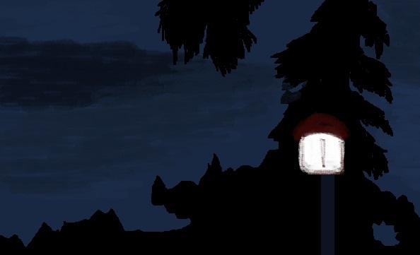 nightscene lamp sky 14613